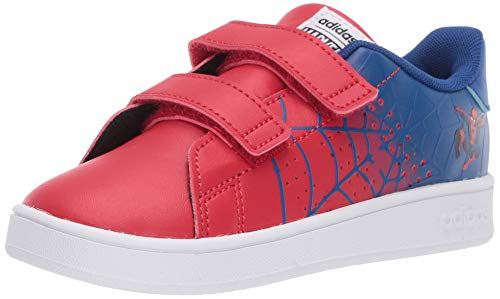 adidas Baby Unisex's Advantage Tennis Shoe, Team Royal Blue/Scarlet/FTWR White, 3K M US Little Kid