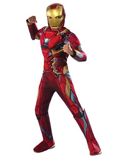 Horror-Shop Iron Man Muskel Kinderkostüm als Original First Avenger Civil War Superhelden Verkleidung S