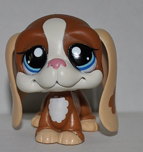 Bassett Hound #1655 - Littlest Pet Shop (Retired) Collector Toy - LPS Collectible Replacement Single Figure - Loose (OOP Out of Package & Print)