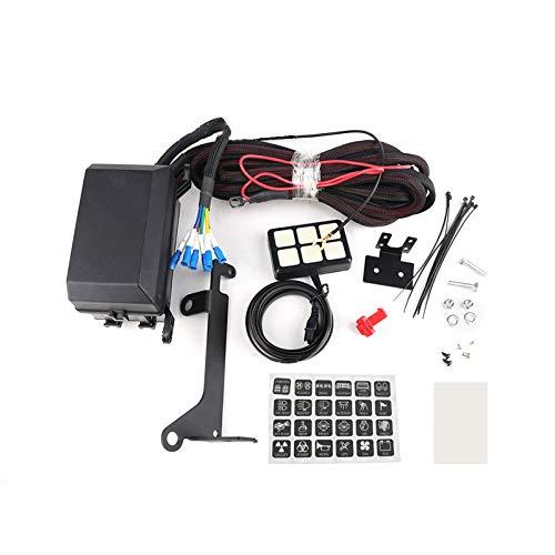 CareMont Sistema de Relé de Panel de Interruptores de 6 Bandas Caja de Control de Circuito para Coche Barco