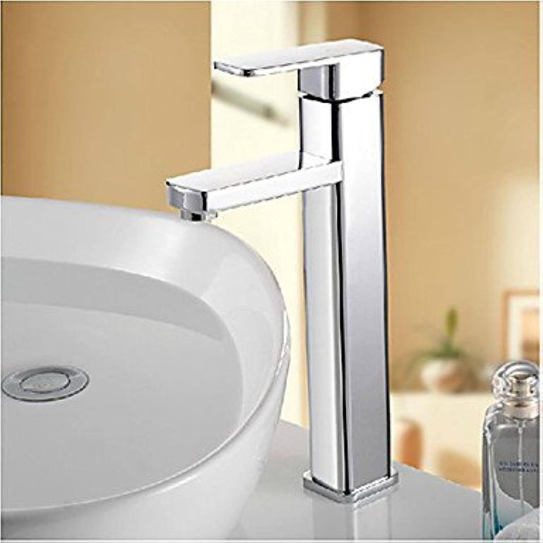 JIAHENGY Waschbeckenmischer Wasserhahn Mischbatterie Armatur Moderne Mode Simple Mode Dual Handgriff schwenkbarer Auslauf, Chrom Poliert WC Küche Badezimmer