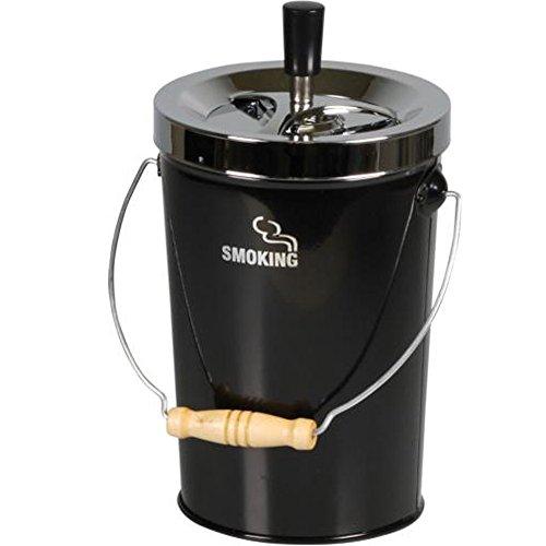 Schleuderascher Kübel 'Smoking', Farbe:Schwarz