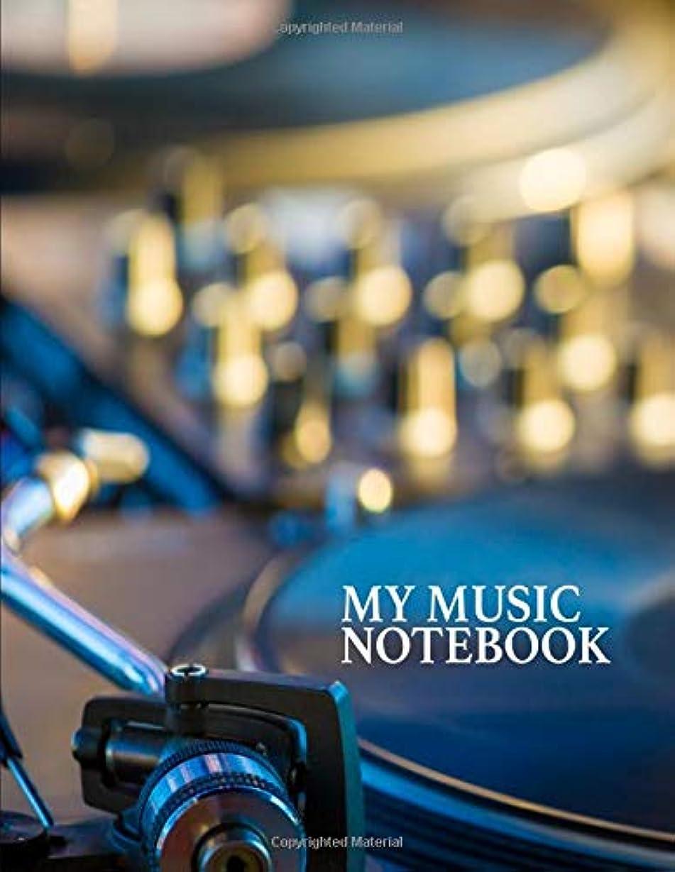 折にもかかわらずコメンテーターMy Music Notebook. Blank Manuscript Paper Staff Paper Journal.