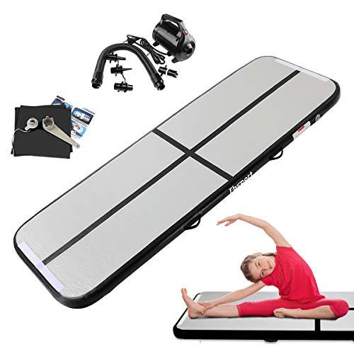 FBSPORT Airtrack Matte, 3M Länge Aufblasbar Gymnastik Tumbling matten, Floor Trainingsmatten mit elektrisch pumpe