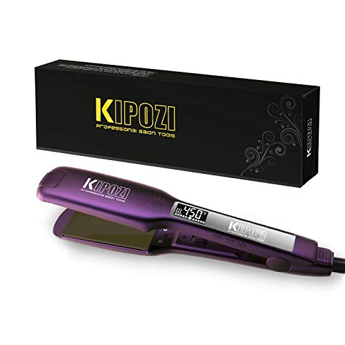 Learn More About KIPOZI Professional Hair Straightener - 1.75 Inch Dual Voltage Titanium Flat Iron w...