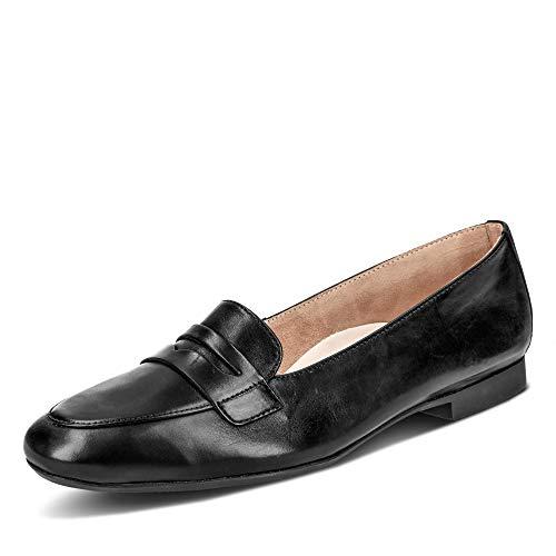 Paul Green 2389 126 Damen klassischer Slipper aus Glattleder Lederausstattung, Groesse 43, schwarz