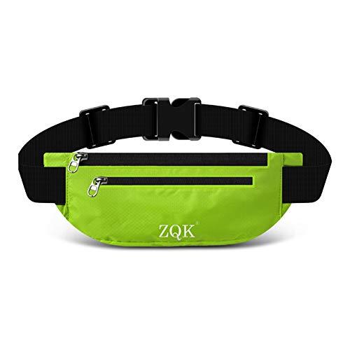 Laufgürtel Schlüssel Hüfttasche, Lauftasche für Handy, Sport Jogging Fitness Gürtel iPhone 6 7 Plus + Samsung Galaxy S7 Edge S8 + Plus Huawei HTC ZTE UVM. (Grün)