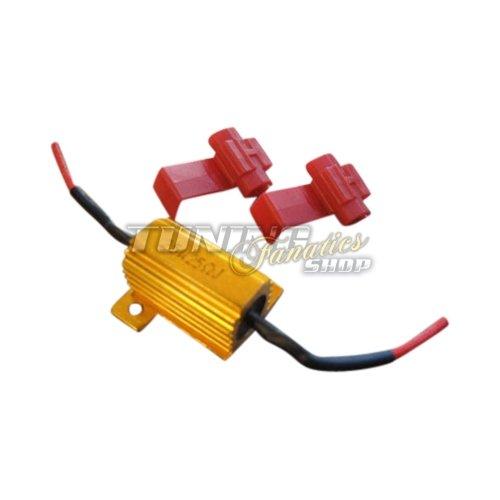 1 x Lastwiderstand Widerstand 25 W 12 V + Klemmen für LED SMD = CANBUS