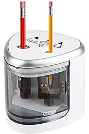 HEEPDD Temperamatite Elettrico temperamatite Elettrico a Doppio Foro Grigio Strumento per matite Colorate Design di Sicurezza per Ufficio a casa Studenti artisti