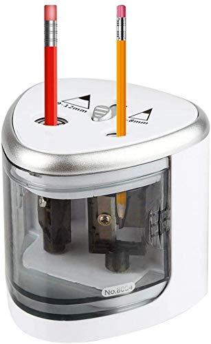 HEEPDD Sacapuntas eléctrico, Agujeros Dobles Grises Sacapuntas eléctrico Lápices de Colores Herramienta...