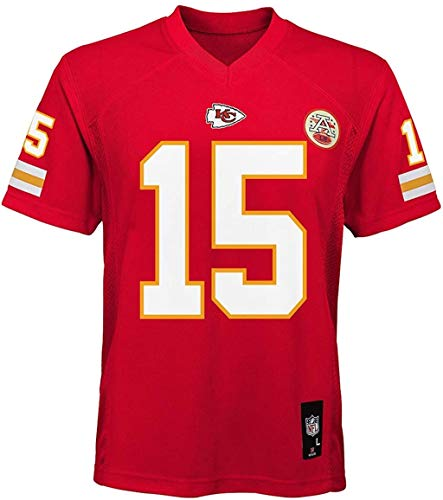 Patrick Mahomes Kansas City Chiefs NFL Boys Youth 8-20 Red Home Mid-Tier Jersey (Youth X-Large 18-20)