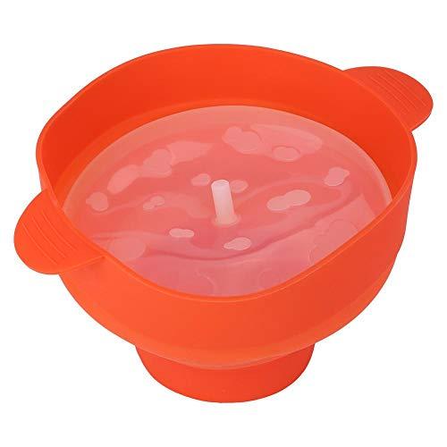 Palomitero Microondas, Silicona Recipiente Tazón de para Hacer Palomitas de Maíz Plegable Bowl con Tapa, 26 x 20 x 14.5 cm