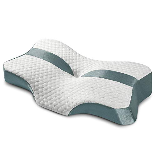 Trobing Cervical Pillow for Neck Pain - Contour Memory Foam Orthopedic Pillow, Ergonomic Neck Pillow, Deep Sleep for Side Sleepers, Back and Stomach Sleepers (Queen Size)