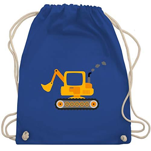 Shirtracer Fahrzeuge Kind - Bagger - Unisize - Royalblau - turnbeutel jungen kindergarten - WM110 - Turnbeutel und Stoffbeutel aus Baumwolle