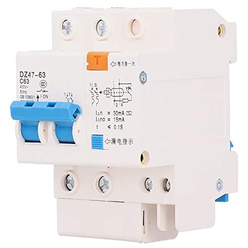 Disyuntor miniatura, interruptor de protección de voltaje del disyuntor 63A del disyuntor de 220V 2P
