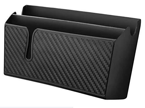 MinPro Selbstklebende Ablage für Smartphone mit Kabel-Durchgang, Notizblock, Schreiber usw. Auto KFZ PKW - 15x8x4cm Carbon-Optik