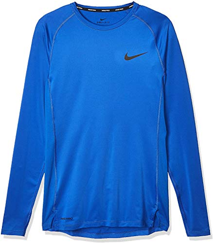 Nike M Np Top Ls Tight Maglietta a Maniche Lunghe Uomo, Blu (Game Royal/Black), XL