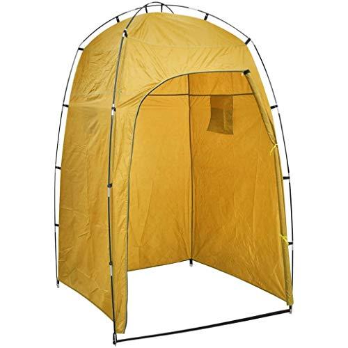 vidaXL Cabina de Ducha/WC/Vestidor para Camping Tienda Campaña Indoro Parque Playa Campamento Exterior Plegable Duradera Estable Amarillo