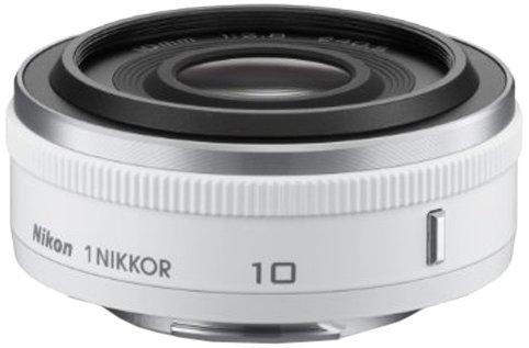 Nikon 1 Nikkor 10 mm 1:2,8 Objektiv weiß