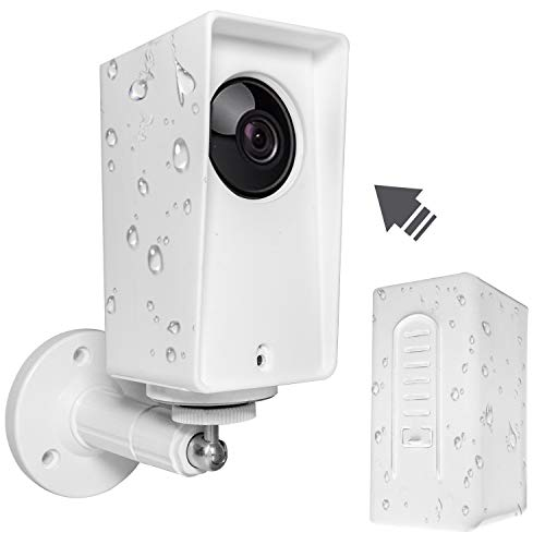 High Protection Mount Compatible with Wyze Cam Pan, Stable & Weather Proof Mounting Set Adjustable for Indoor and Outdoor Anti-Sun Glare and UV Protection