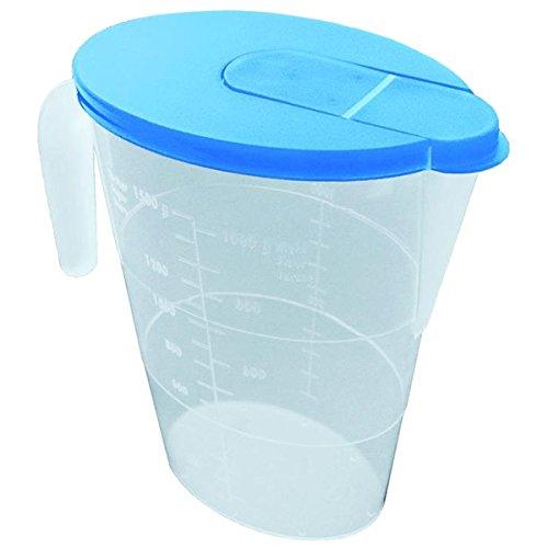 Buchsteiner BS2215 Réfrigérateur cruche 1,5 l en Nature/Lavande, Plastique, 10 cm