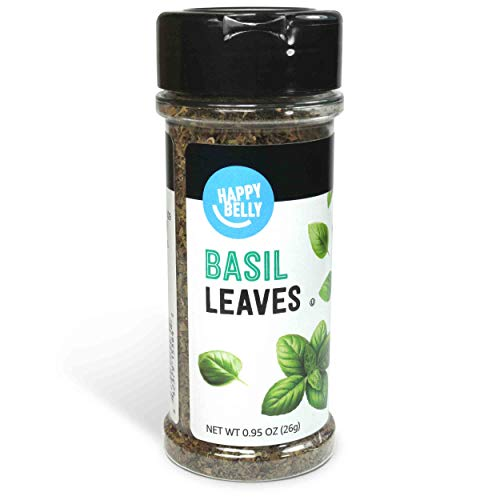 Amazon Brand – Happy Belly Basil Leaves, 0.95 Ounces