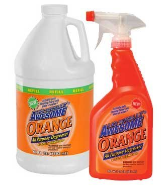 Awesome Orange 22 Oz All Purpose Degreaser & Spot Remover with Awesome Orange 64 Oz. Refill