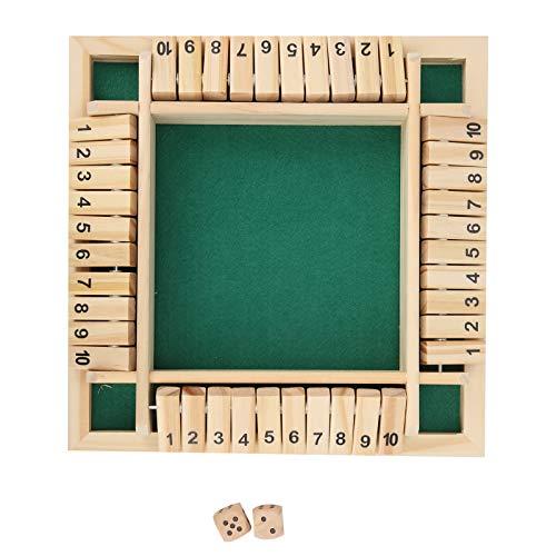 Jogo de tabuleiro da família No Burr Material de madeira, placa de número do jogo de madeira, 2 a 4 jogadores para crianças adultas