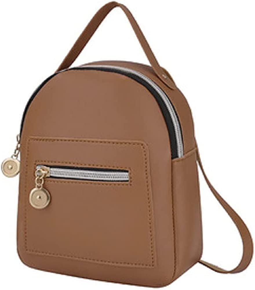 Mini Backpack for Women Fashion Daily Backpack, Pocket Zipper Convertible Bag, Small Backpack