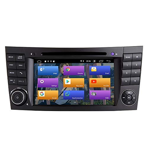 N A BOOYES para Mercedes Benz E-Class W211 W219 CLS Android 10.0 Car Radio Stereo GPS System 7' Reproductor Multimedia para Coche Soporte Auto Play/TPMS/OBD / 4G WiFi/Dab/Mirror Link