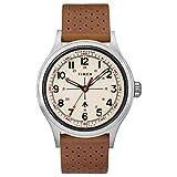 Timex Reloj de Hombre Cuarzo 40mm Correa de Cuero Caja de Acero TW2T82500
