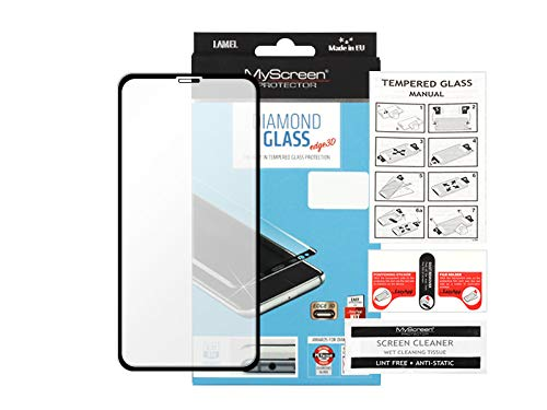 etuo Panzerglas für Apple iPhone 11 - Panzerglas MyScreen Protector Diamond Glass Edge 3D - Schwarz Panzerglas 9H Glas Schutz Display Panzer Schutzglas