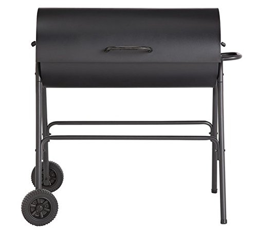 Argos Charcoal Oil Drum BBQ - Cover, Utensils & Adjustable Grill