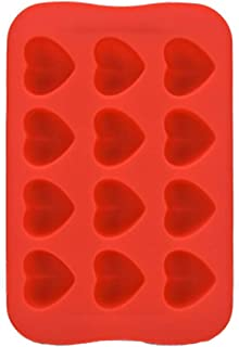 JUNGEN Bandeja de Hielo Molde de Silicona de corazón Molde de Bombones 21 moldes de Cubitos