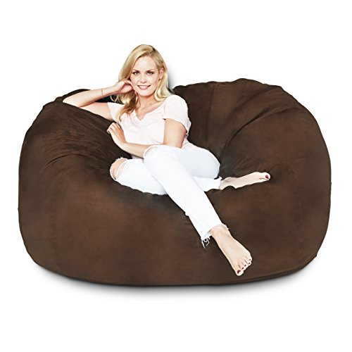 Lumaland Luxury 5-Foot Bean Bag Chair with Microsuede Cover...