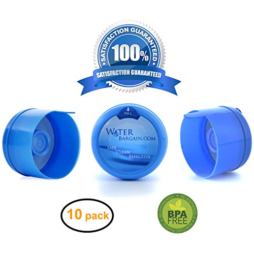 Premium Water Cooler Bottle Caps - Quantity of 10 -Fits 55 mm bottles- BPA Free!!