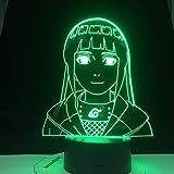 3D nachtlicht Anime Naruto Night Light Girl 7 Farbwechsel Touch und Fernschalter Weihnachten