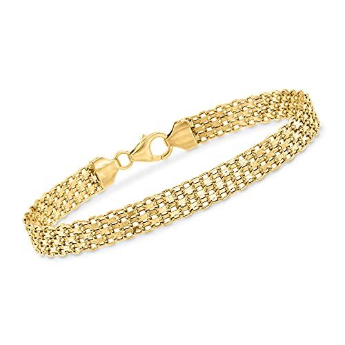 Ross-Simons Italian 18kt Yellow Gold Bismark-Link Bracelet. 7 inches