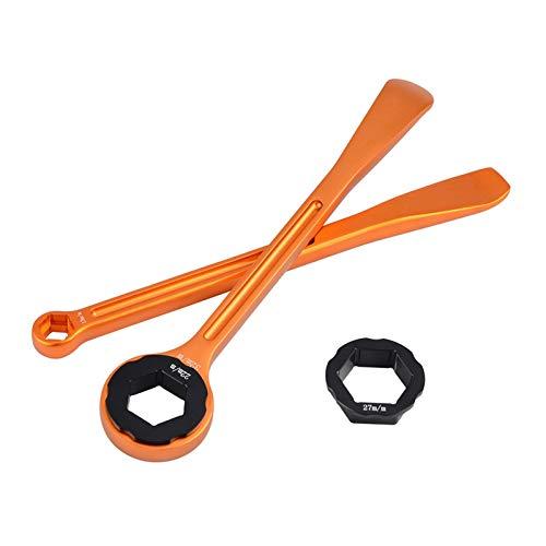 ZHANGWUNIU WUZ Store 10/13/22/27 / 32 mm neumático de la Palanca de la Palanca de la Llave Inglesa Ajuste para 690 950 990 1050 1090 1190 1290 Super Moto Enduro Duke Adventure R (Color : Orange)