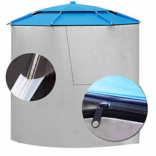 Parasol YGR Parapluie Extérieur Ceinture Soleil Coupe-Vent Coupe-Pluie Housse Amovible Portable Canopy Quatre Saisons Universel