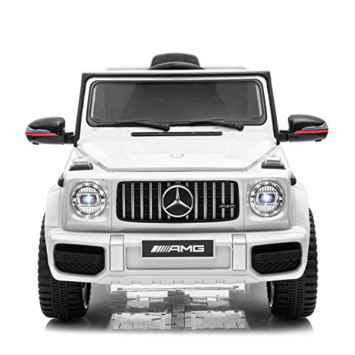 TrueMax 12V G63 AMG Ride on Car Kids Electric Power Toy with Remote Control, MP3 Sound System, LED Lights Compatible with Mercedes Benz - White