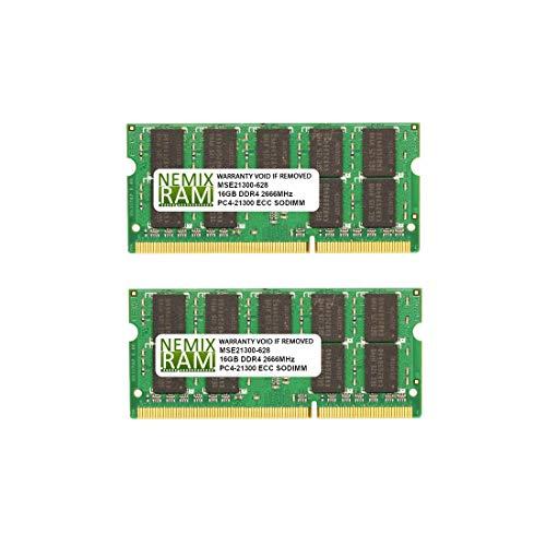 32GB Kit 2x16GB DDR4-2666 PC4-21300 ECC SODIMM 2Rx8 Memory by Nemix Ram