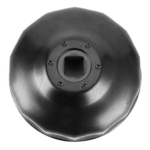 Llave de filtro de aceite de aleación de aluminio herramienta de eliminación de llave de enchufe de filtro de aceite universal 76mm 14 pies para motocicleta