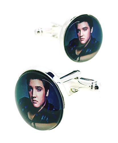 Gemelolandia | Manschettenknöpfe für Magglass Elvis Presley Original Manschettenknöpfe für Hemden | für Männer und Jungen | Geschenke für Hochzeiten, Kommunion, Taufen und andere Veranstaltungen