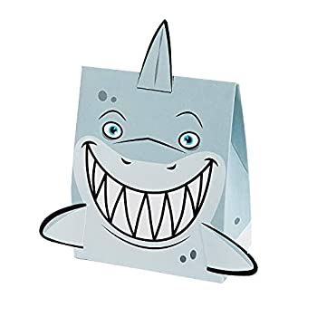 Fun Express - Jawsome Treat Boxes for Birthday - Party Supplies - Containers & Boxes - Paper Boxes - Birthday - 12 Pieces
