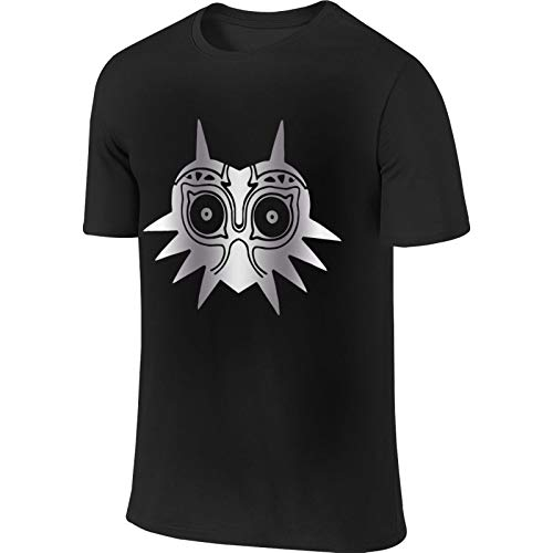 Mens Legend of Zelda Majora Platinum Style Sports Tees ropa negro suave camiseta para hombre