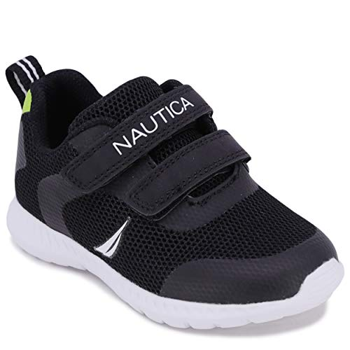 Nautica Kids Sneakers Double Strap Casual Athletic Shoes Boys Girls Toddler Little Kid Burnton-Black-7