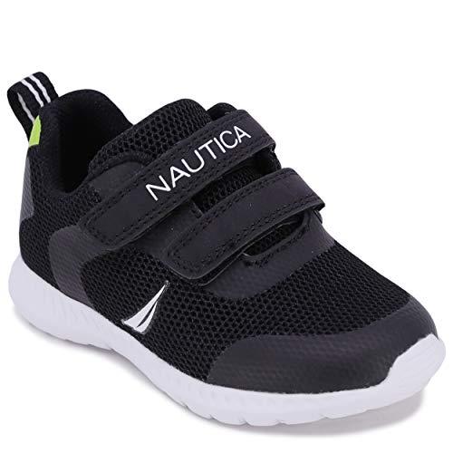 Nautica Zapatillas deportivas para niños con doble correa y zapatos deportivos casuales | niños – niñas | (niños pequeños/niños pequeños), negro (Burnton-black), 20 EU