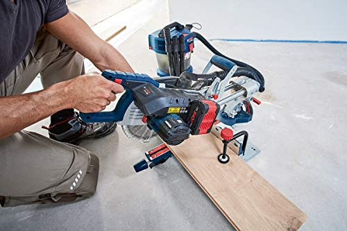 Bosch Professional BITURBO Cordless Sliding Mitre GCM 18 V-216 (Saw Blade Diameter: 216 mm, Excluding Rechargeable Batteries and Charger, in Cardboard Box)