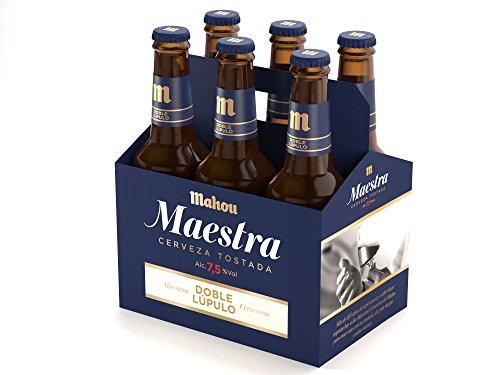 Mahou Maestra Doble Lúpulo Cerveza Lager Tostada, 6 x 33cl